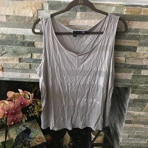 Light gray sleeveless top